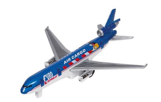 Goki Metalen Vliegtuig 19 cm Blauw