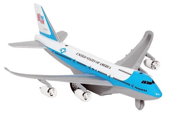 Goki Metalen Vliegtuig Met Geluid en Licht 18,5 cm Blauw Wit
