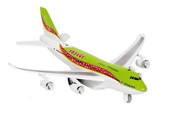 Goki Metalen Vliegtuig Met Geluid en Licht 18,5 cm Groen
