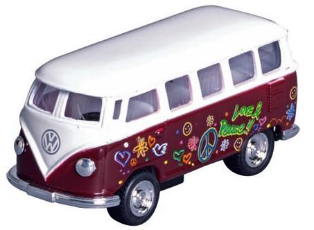 Welly Metalen Volkswagen Klassieke Bus (1962): Bruin