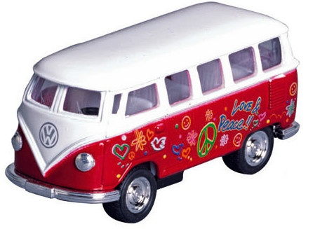 Welly Metalen Volkswagen Klassieke Bus (1962): Rood
