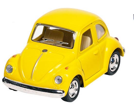 Goki Metalen Volkswagen Klassieke Kever 1967: Geel 13 cm