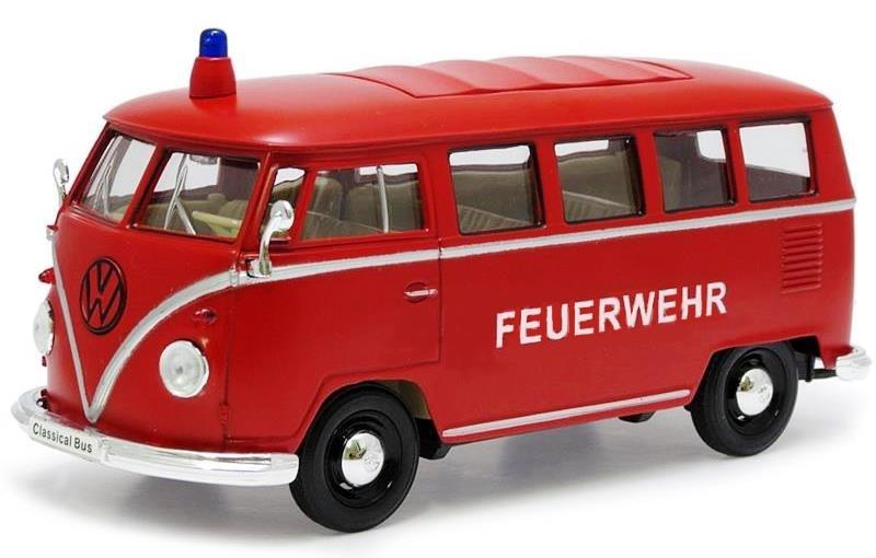 Goki Metalen Volkswagen Microbus (1962): 11,5 cm Rood