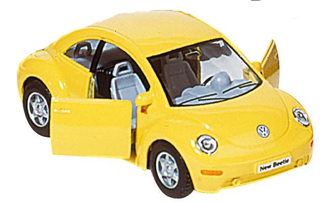 Goki Metalen Volkswagen Nieuwe Kever: Geel 12,7 cm