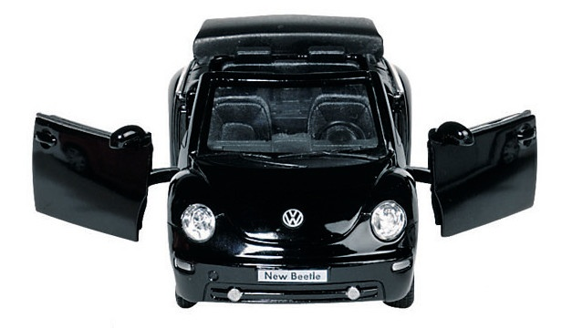 Goki Metalen VW Nieuwe Kever Cabriolet: Zwart 12,8 cm