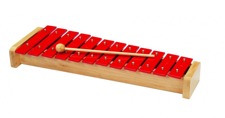 Goki Houten Xylofoon: Rood 38,9 cm