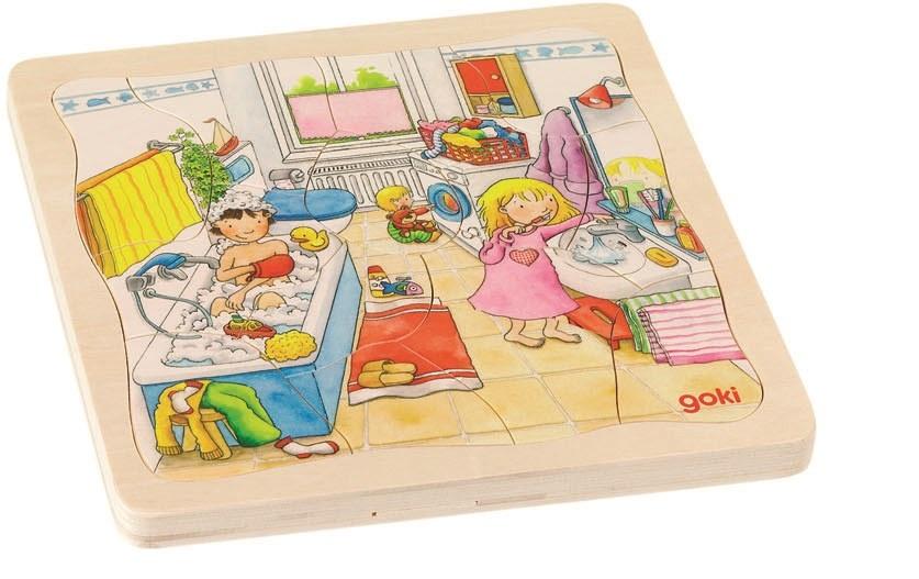 Goki Mijn DAG 4 Lagen Puzzel 46 Delig