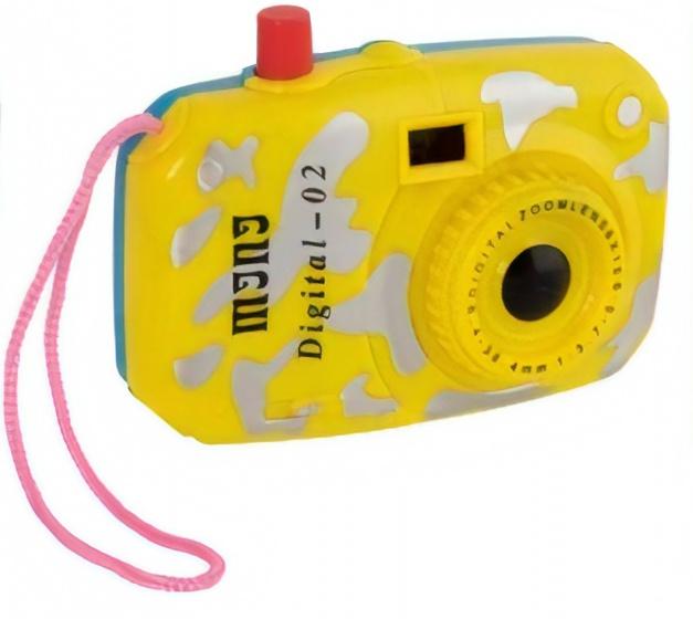 Goki mini fototoestel viewmaster 10 cm geel/blauw kopen