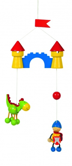 Goki Mobiel Kleine Ridder Met Draak 15 X 40 cm