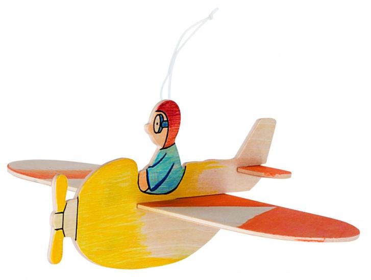Goki Mobiel Zweeffiguur Vliegtuig Breedte Circa 21 cm