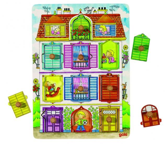 Goki Onze Villa Knopjespuzzel 10 Delig