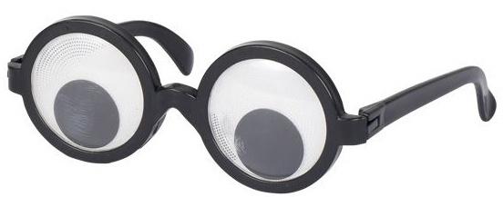 Goki party bril bewegende ogen zwart