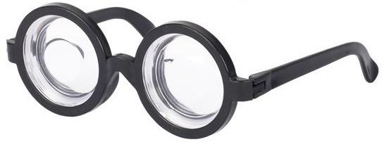 Goki party bril vergroot zwart