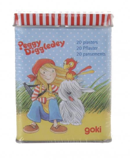 Goki Peggy Diggledey pleisters in metalen doos 20 delig