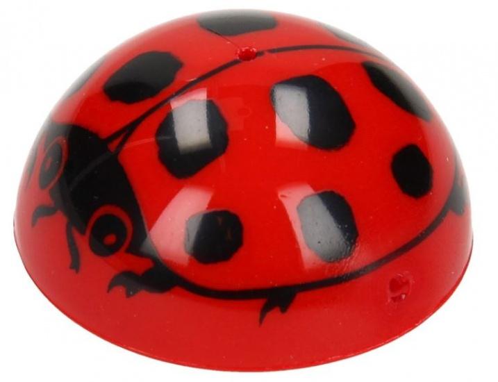 Goki plopper lieveheersbeestje rood/zwart 4,5 cm