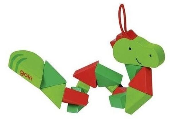 Goki Pocket Puzzel Krokodil