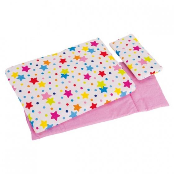 Goki poppen beddengoed sterren dekbed + kussen