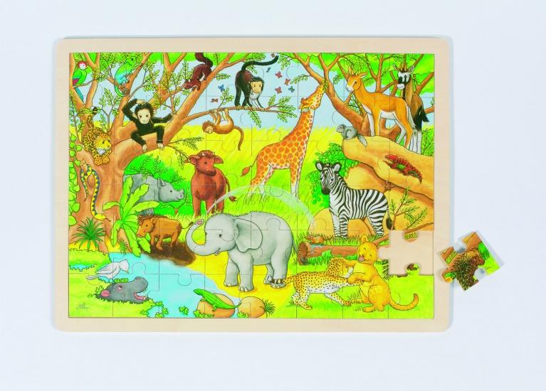 Goki Puzzel: Afrika 48 Delig