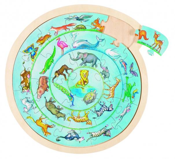 Goki Puzzel: Dierencirkel 27 Delig