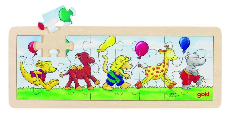 Goki Puzzel: Dierenparade 24 Delig