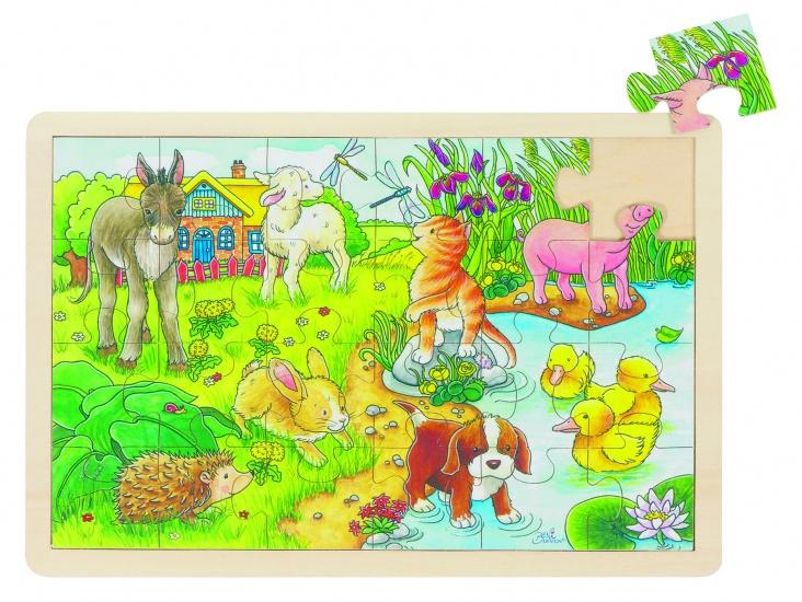 Goki Puzzel: Kleine Jonge Dieren 24 Delig