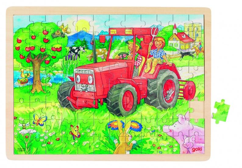 Goki Puzzel: Op De Tractor 96 Delig