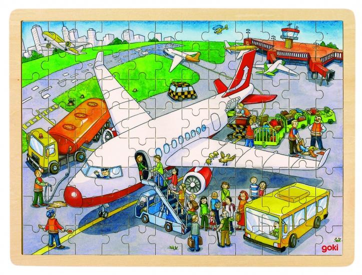 Goki Puzzel: Op De Vlieghaven 96 Delig