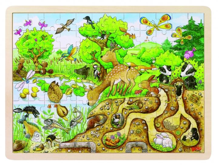 Goki Puzzel: Op Ontdekking in De Natuur 96 Delig