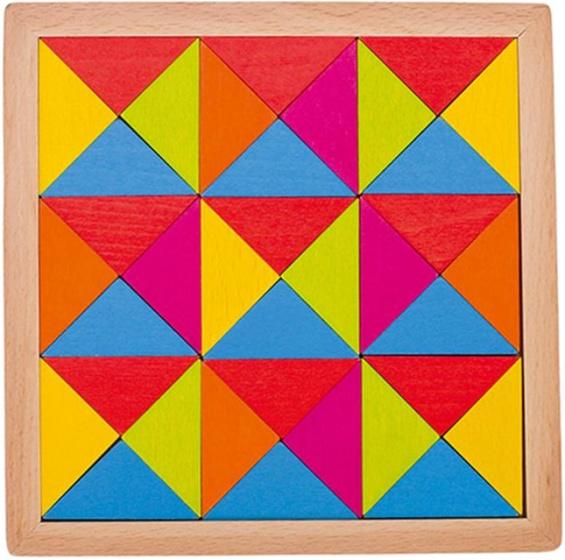 Goki puzzel regenboog 15,5 x 15,5 cm 36 stukjes