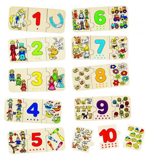 Goki Puzzel Tellen en Rangschikken 30 Delig