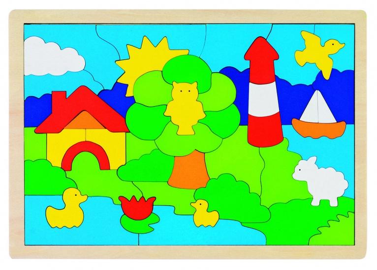 Goki Puzzel: Vuurtoren 52 Delig