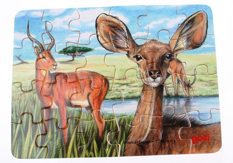 Goki Puzzel Wilde Dieren: Gazelle 24 Delig