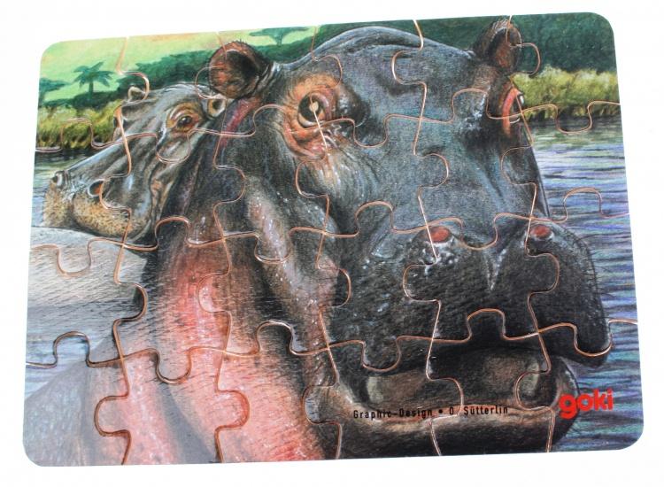 Goki Puzzel Wilde Dieren: Nijlpaard 24 Delig