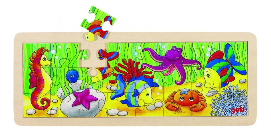 Goki Puzzel: Zeedieren 24 Delig