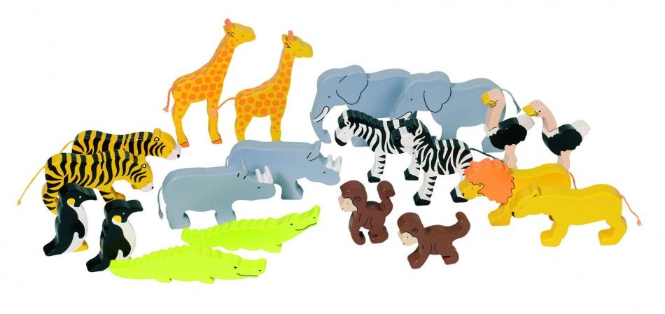 Goki Set Afrikaanse Dieren 20 Stuks