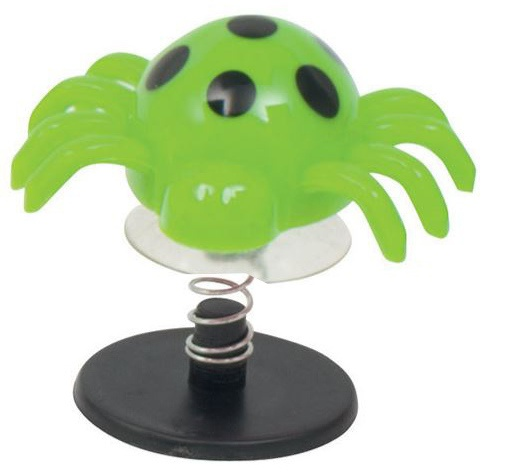 Goki springende spinnen junior groen 4 x 4,5 cm
