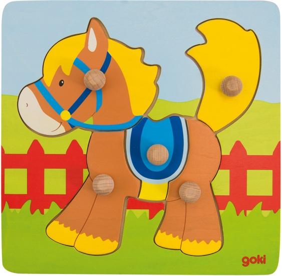 Goki Steekpuzzel Paard 5 Delig