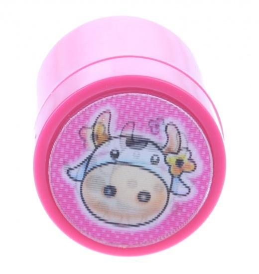 Goki stempel koe roze 4,5 x 3 cm