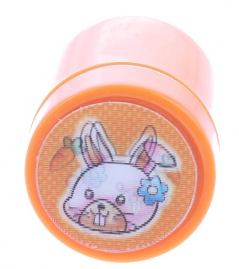 Goki stempel konijn oranje 4,5 x 3 cm