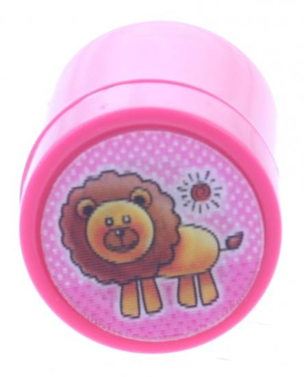 Goki stempel leeuw roze 4,5 x 3 cm