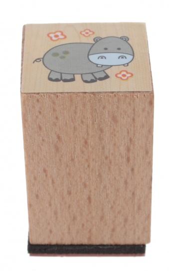 Goki stempel nijlpaard 3 x 2 cm