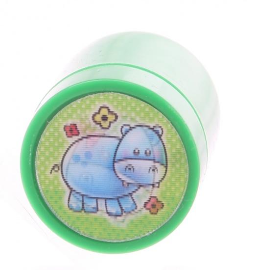 Goki stempel nijlpaard groen 4,5 x 3 cm
