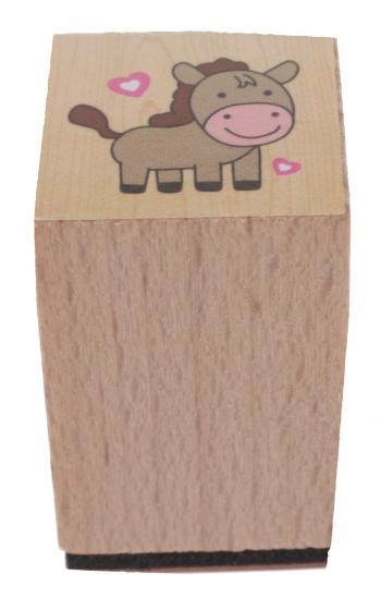 Goki stempel paard 3 x 2 cm