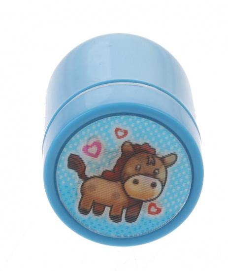 Goki stempel paard blauw 4,5 x 3 cm