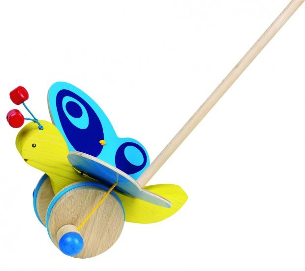 Goki Stokroller Vlinder 18,5 X 13 X 19 cm Geel Blauw