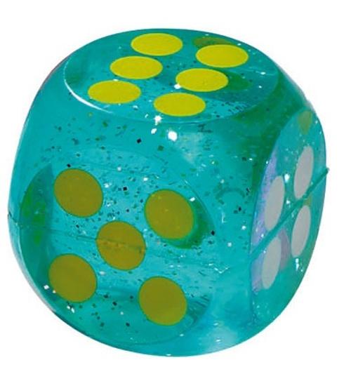 Goki stuiterbal dobbelsteen 4 cm blauw