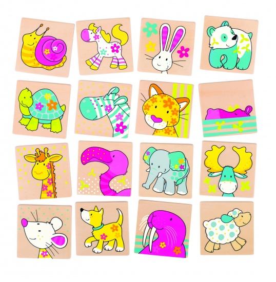 Goki susibelle memory mijn dieren vriendjes 32 delig