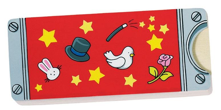 Goki toverdoos voor munten magic hout 10 x 4 cm