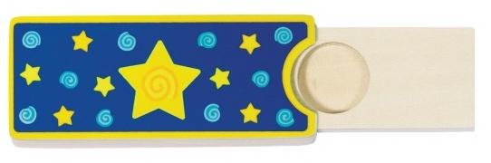 Goki toverdoos voor munten ster hout 10 x 4 cm