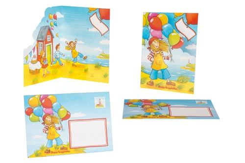Goki Uitnodigingskaart Peggy Diggledey 15 x 10,5 cm 8 stuks